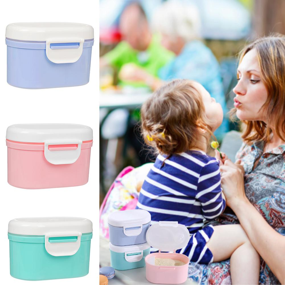 Portable Powder Milk Storage Container With Spoon Baby Food Box Toddler Formula Milk Powder Case Feeding Accessories