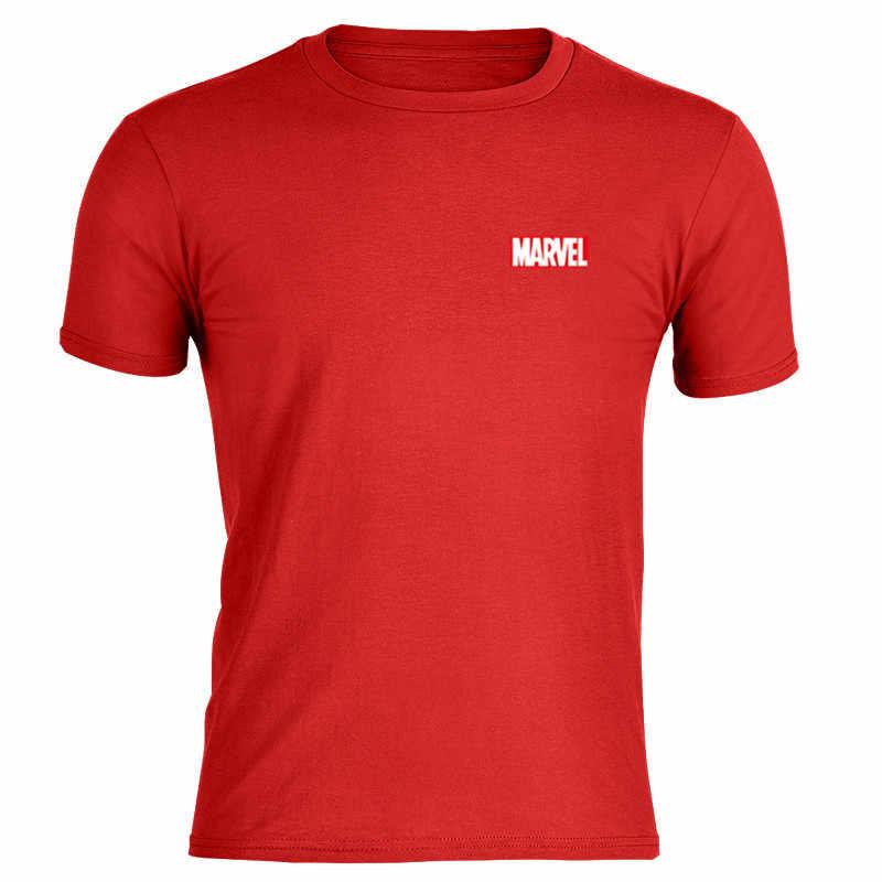 ผ้าฝ้ายนุ่ม MARVEL เสื้อยืดผู้ชายพิมพ์ O-Neck กีฬาฟิตเนสแฟชั่น Casual Top Tees คนแขนสั้น Tee สีเทาสีเหลือง