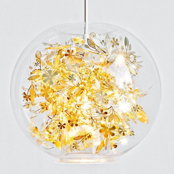 Modern Minimalist Transparent Glass Ball LED Chandelier Restaurant Loft Bedroom Creative Decoration Chandelier Free Shipping free shipping elegant chandelier colorful art glass chihuly