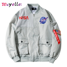 Mens Jackets and Coats 2019 Printed Mens Baseball Suit Loosely Casual Zipper Flying Jacket Male Patchwork Tide Baseball Jacket