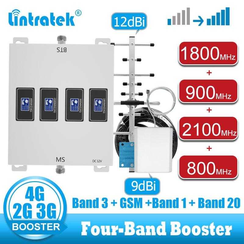 Сотовый усилитель lintratek 800 900 2100 1800, gsm 2g 3g 4g, усилитель сигнала, 4g LTE повторитель сигнала мобильного телефона