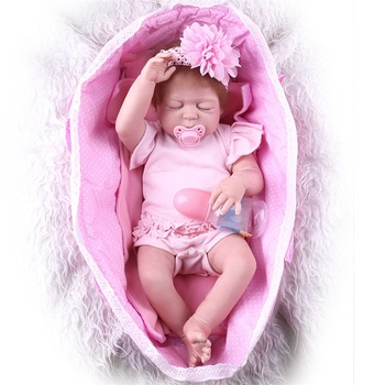 55CM Reborn Doll Girl Full Body Silicone Reborn Babies For Sale Cheap Realistic Reborns Babies Toddlers For Newborn Baby Toy