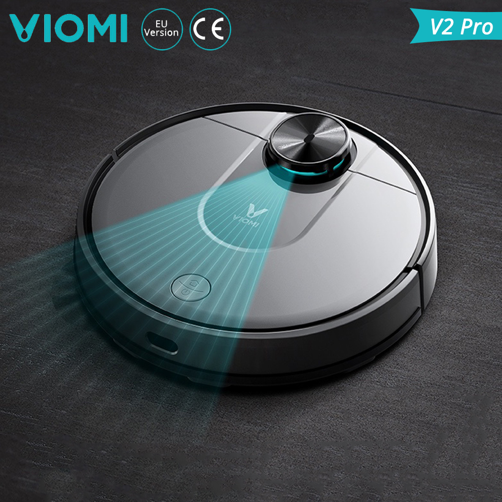 Xiaomi VIOMI V2 Pro Smart Robot Vacuum Cleaner 2100Pa Strong Suction 2 In 1 Sweeping Mopping Robot Cleaner LDS Laser Navigation