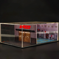 Car model display box vehicle storage box parking garage Scene simulation traffic facilities collection tool accessories collect