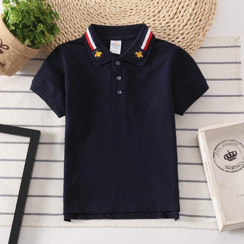 Boys Polo Shirts Short Sleeve Kids Shirt For Boys Collar Tops Tees Fashion Baby Boys Girls Shirts 2-16 Years Child Clothes