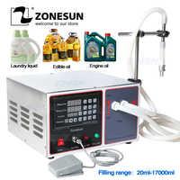 ZONESUN GZ-GFK17B Semi Automatic Filling Machine Laundry Hand Sanitizer Alcohol Juice detergent Milk Liquid Filling Machine