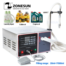 ZONESUN GZ GFK17B شبه ماكينة الحشو الأتوماتيكية منظفات الغسيل عصير الحليب السائل ملء آلة