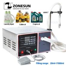 Zonesun GZ GFK17B Semi Automatische Vulmachine Wasmiddel Sap Melk Water Vloeistof Vulmachine