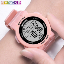 School Boy Girl Watches Electronic Colorful Light Source Sis