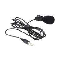 Recording Microphone External Clip-on Lapel Lavalier Microphone 3.5mm Jack for IPhone Android SmartPhone PC Studio Microphone
