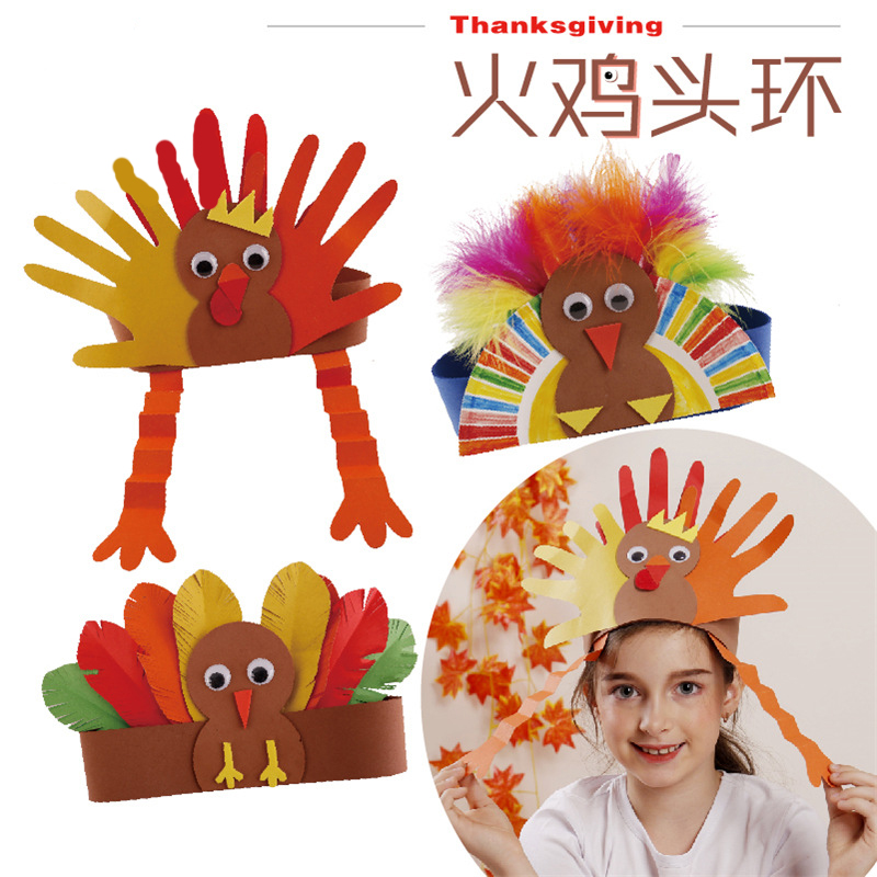 Handmade Turkish Head Ring Feather Head Ring Children's Handmade Head Ring Children's Diy Handmade Festival Diy Toy Crafts