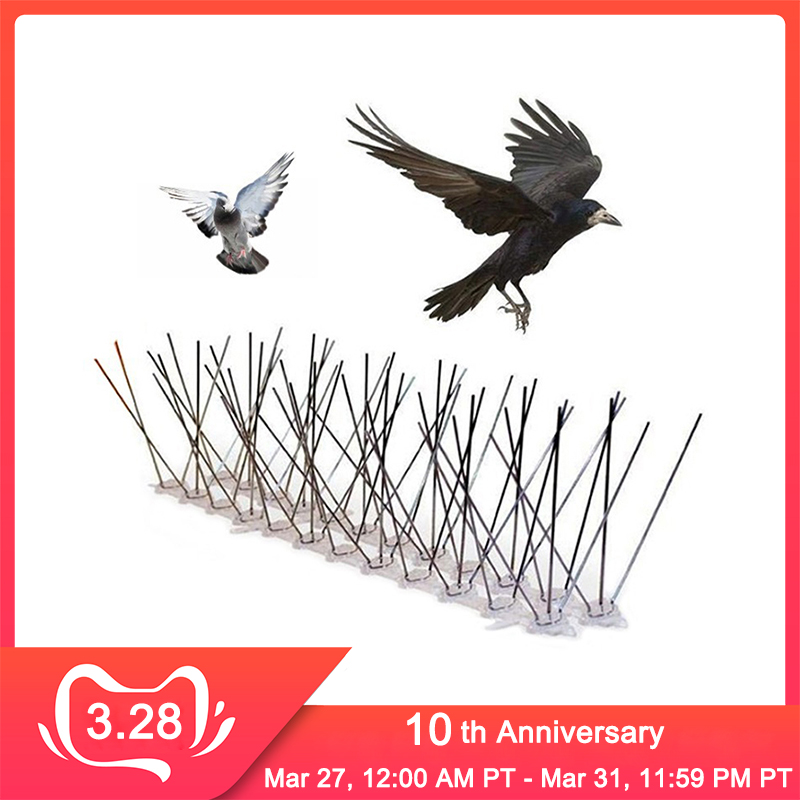 Hot selling 6M Plastic Bird and Pigeon Spikes Anti Bird Anti Pigeon Spike for Get Rid of Pigeons and Scare Birds Pest Control|Repellents| |  - title=