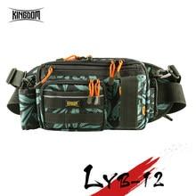 Reino saco da cintura de pesca multi funcional grande capacidade cintura ombro pesca isca carretel caixa enfrentar saco 31*18*16cm modelo lyb12