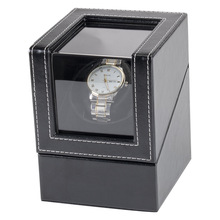 Winding-Box Watch Motor Display Shaker Mechanical-Watch Black with Acrylic Transparent