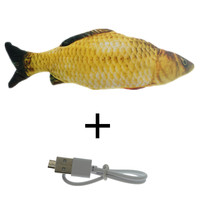 Red-30CM Cat Toy Fish USB Electric Charging Simulation Dancing Jumping Moving Floppy Fish