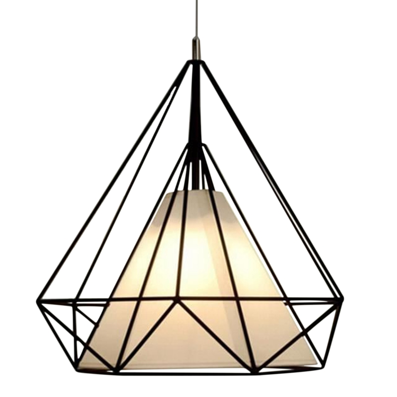 Pendant Modern Light Black Chandelier Iron Cage Hanging Vintage Led Lamp E27 Loft Industrial Chandelier Dining Room Restaurant B