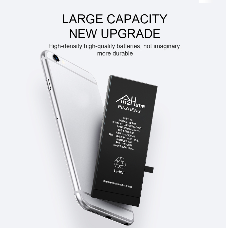 PINZHENG Original Mobile Phone Battery For iPhone 6 6s Plus 5 Battery Real Capacity With Repair Tools Kit And Battery Sticker