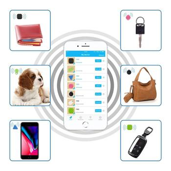 Pet Smart Mini GPS Tracker Pet Locator Anti-lost Waterproof Bluetooth Tracker Triangular Kids Dog Cat Tracker Multiple Colors 4