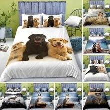 HD Digital Dog Print Bedding Sets 3D Animal Duvet Cover+ Pillowcase 2/3pcs Single Twin Queen King Bed set US/AU/EU Size