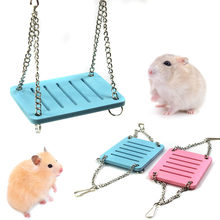 Cute Parrot Hamster Small Swing Hanging Bed Shake Suspension House Props Pet Products Toy Hamster Accessories(China)
