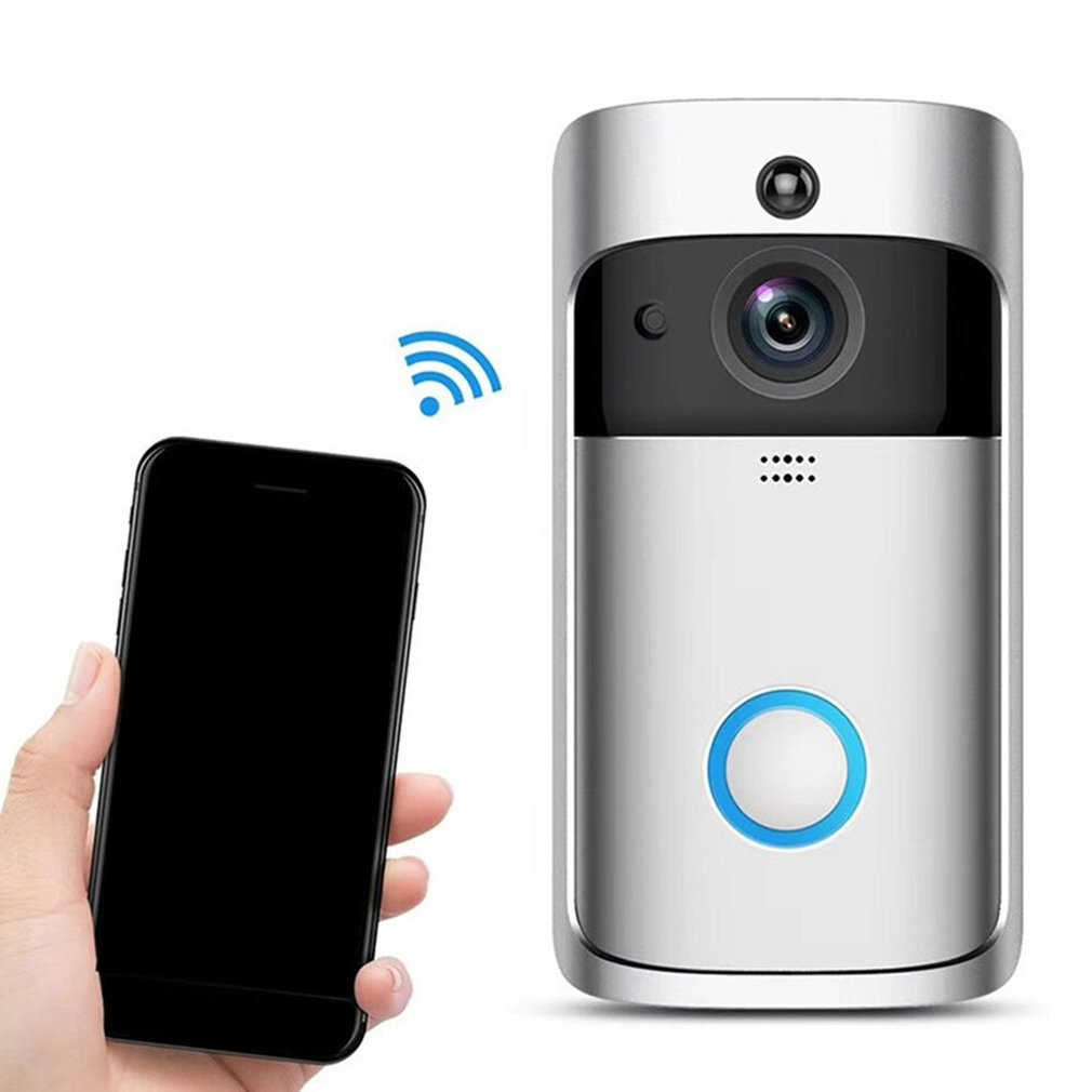 Video Doorbell Smart Wireless WiFi Security Door Bell Intercom Phone Picture Video Home Security Receiver Smart WiFi Doorbell