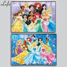 Diamond painting full square / round beautiful Disney Princess cartoon character diamond embroidery picture mosaic Christmas gif(China)