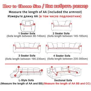 Image 3 - ทั้งหมด ห่อผ้าคลุมเตียงโซฟาพิมพ์ยืดที่นอนสำหรับมุมโซฟาเดี่ยว/2/สาม/สี่ที่นั่ง