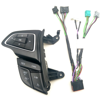 For Ford Focus Mk3 2015-2017 Kuga 2017 Cruise Control Switch Multifunction Steering Wheel Button Bluetooth Audio Button(With Lim