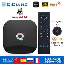 Akıllı TV kutusu QPLUS 6K Ultra HD 4 + 32G Android 9.0 WIFI Google Cast Netflix medya oynatıcı IPTV Set top kutusu qplus