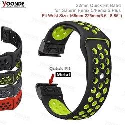 22mm Fenix 6 szybkie dopasowanie Sport silikonowa opaska na rękę dla Garmin Fenix 5/5 Plus/Forerunner 935/instynkt/Quatix 5 Watch Band Strap