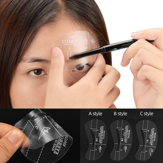 24pcs/pack Mixed Types Eyebrow Stencil Kit Makeup Tools DIY Beauty Eyebrow Template Stencil For Women Beauty Tools Accessories