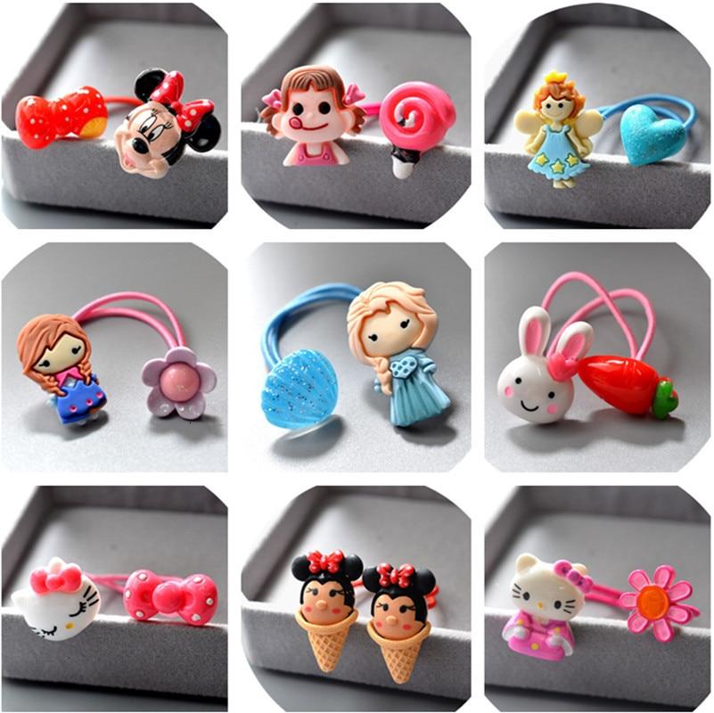 Cute Cartoon Swan Sweet Tube Children Hair Ropes Elastic Rubber Hair Band Girls Hair Accessories Baby Headwear Kids Headdress