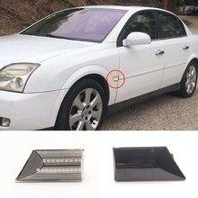 2 pces conduziu a luz do carro para opel signum vectra c 2003-2008 pisca lateral dinâmica da lâmpada do sinal de volta que flui a iluminação