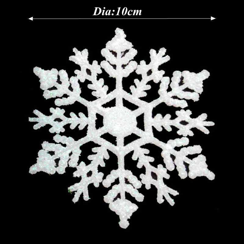 1PC Natal Dekorasi Pohon Kepingan Salju Gantung Ornamen Natal Dekorasi untuk Rumah Salju Buatan Pesta Natal Tahun Baru