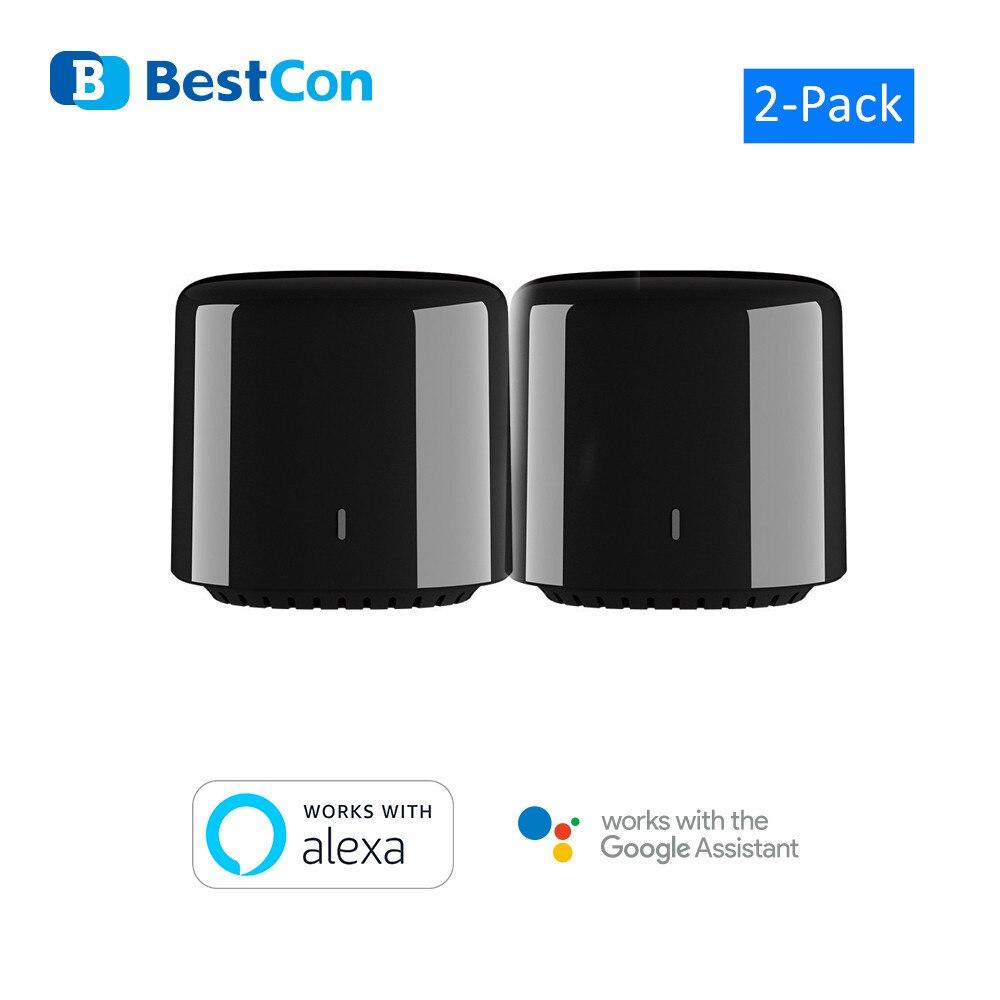 2 Broadlink RM4C Mini Bestcon Casa Inteligente Interruptor WiFi IR Smart Home Automa        o Voice Control Google Home Alexa