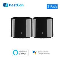 2 Broadlink RM4C Mini Bestcon Casa Inteligenteสวิทช์WiFi IR Smart Home AutomaçãoควบคุมเสียงGoogle Home
