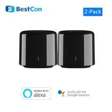 2 broadlink rm4c mini bestcon casa inteligente interruptor wi fi ir casa inteligente controle de voz google casa alexa