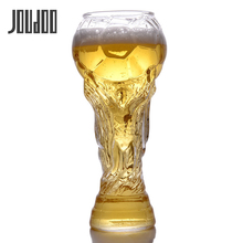 JOUDOO Creative Football Mugs Bar Glass 450ml Wine Glasses Whiskey Cup Beer Goblet Juice High Borosilicate 35