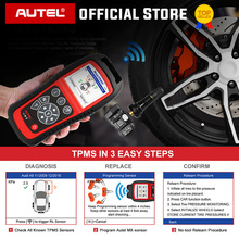 AUTEL TS601 OBD2 lecteur de Code Scanner OBDII voiture outil de Diagnostic activer TPMS capteur programmation mx sensor pneu outil de réparation