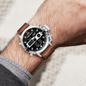 Image 5 - MEGALITH גברים ספורט שעון זוהר עמיד למים קוורץ שעון גברים משולב הכרונוגרף שעון יד Dropshipping סיטונאי מחיר