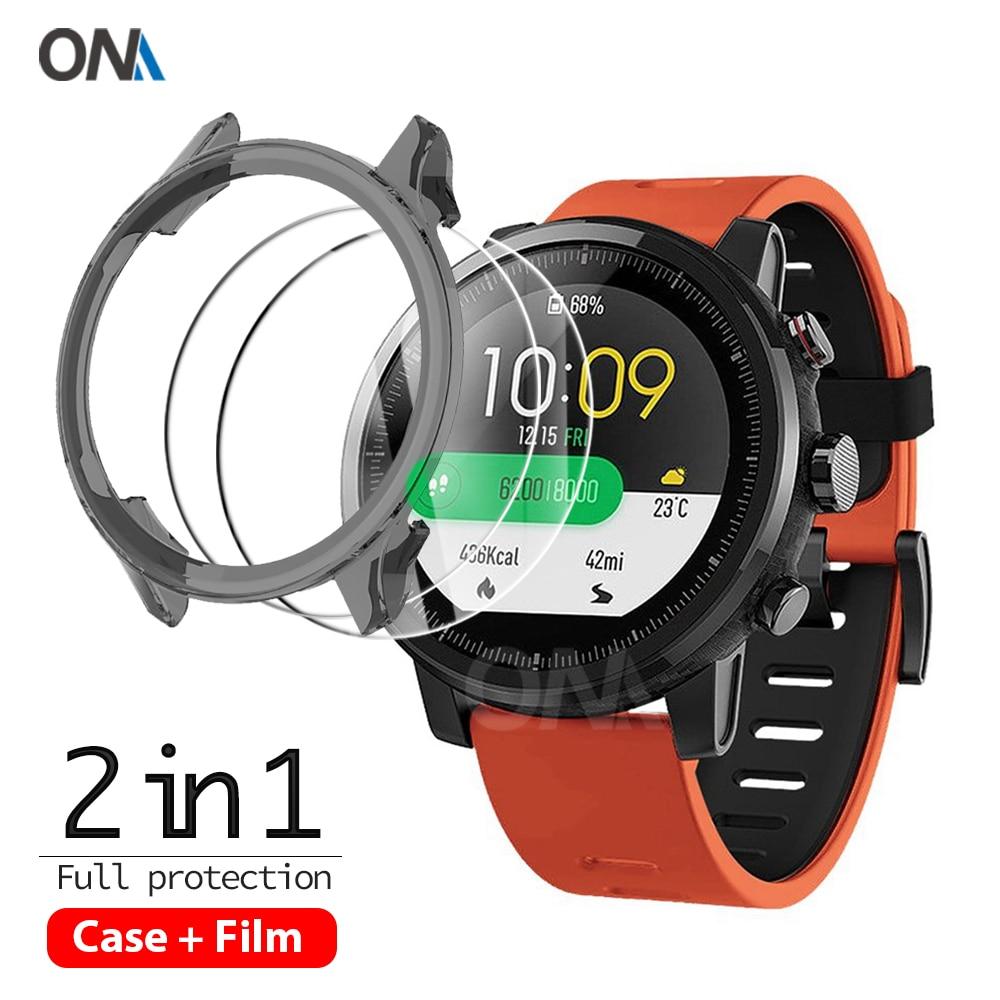 2 + 1 защитный чехол + Защита экрана для цветных умных часов Xiaomi WT06, Мягкий защитный чехол из ТПУ, защитная пленка из закаленного стекла