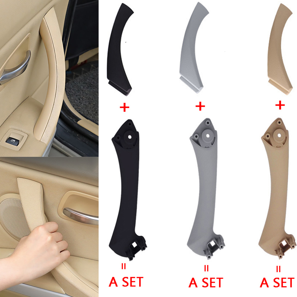 Car Interior Inner Door Handle Panel Pull Trim Cover Gray Beige Black left Right For BMW 3 series E90 E91 316 318 320 325 328 image