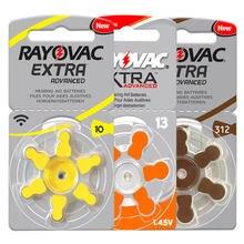 Baterias do aparelho auditivo 60 pces rayovac extra zinco ar 1.45v 10a/a10/pr70. 13 a13 p13 pr48. 312/a312/pr41 bateria de alto desempenho