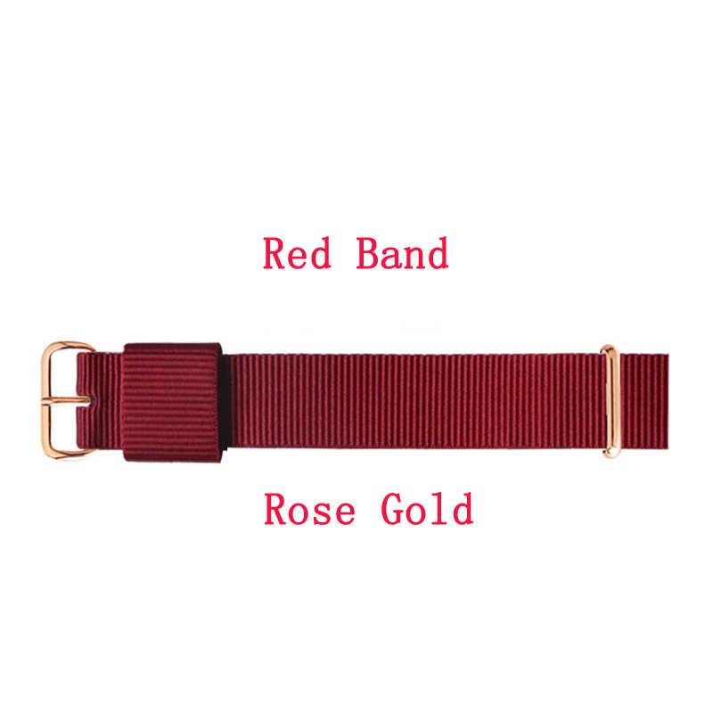 Top di marca JH Qualità 18 millimetri 20 millimetri in oro rosa argento amanti delle donne degli uomini dw nylon watch strap per daniel di gomma cinturino per il Regalo