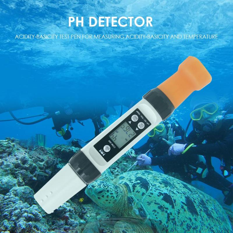 Tools : HM PH-200 LCD Digital Display Waterproof Temperature PH Meter PH Detector Hydroponic Portable PPM Water Quality Detector