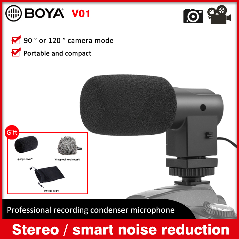 Professional Gopro Microphone G-Mic Stereo Mini usb Microphone with Foam Windscreens for Audio Recording