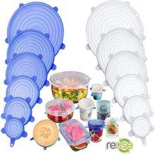 Capa de silicone tampas de estiramento reutilizáveis hermético alimentos envoltório cobre mantendo fresco selo tigela elástico envoltório capa cozinha panelas