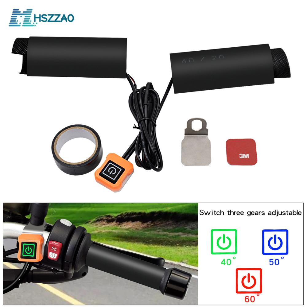 12V Lntelligent Temperature Control Third Gear Heated Grips Inserts Handlebar Hand Warmers For Universal Grip ATV Motorcycle