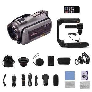Image 5 - Цифровая видеокамера ORDRO с Wi Fi, 4K, UHD, 30 кадров/с, видеокамера 3,1 дюйма, IPS, 64X, ИК, ночное видение, широкоугольный объектив, внешний стерео микрофон, бленда