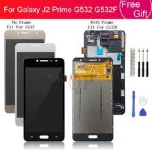 Samsung Galaxy J2 başbakan G532 G532F çerçeve ile Lcd ekran ekran dokunmatik ekran Digitizer meclisi yedek onarım parçaları
